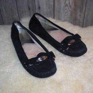 Michael Kors Black Suede Leather Loafer Flat